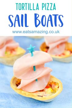 These mini tortilla pizza boats are quick and easy to make - perfect party food for a beach or ocean themed party or a great fun meal for kids this summer! #EatsAmazing #foodart #funfood #kidsfood #pizza #ocean #beach #themedfood #partyfood Best Party Appetizers, Best Party Food, Food Art For Kids, Cooking With Kids, Kid Friendly Dinner, Kid Friendly Meals, Vegan Recipes Easy, Snack Recipes, Tailgating Recipes