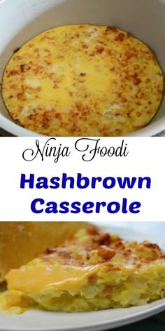 Ninja Foodi Hashbrown Casserole Looking for the perfect casserole to serve up for breakfast or even brunch? I made this in the new Ninja Foodi Pressure Cooker Airfryer, and it worked out fantastic. This casserole is hearty, packed with bacon, eggs, a. Breakfast Dishes, Breakfast Recipes, Dinner Recipes, Instant Pot, Ninja Cooking System, Ninja System, Hashbrown Breakfast Casserole, Ninja Recipes, Pressure Cooker Recipes