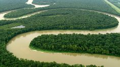 Buffalo National River, Arkansas. Aerial view of one of America's few remaining undammed rivers.
