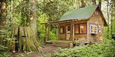 A recent study found that women live longer when they live surrounded by nature. They started with a theory that natural environments help to lower stress and increase physical / social activity, which leads to greater health. Tiny House Blog, Tiny House Cabin, Tiny House Living, Tiny House Design, Cabin Homes, Log Homes, Tiny Cabins, Cabins And Cottages, Log Cabins