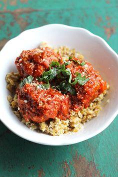 Italian Meatball Quinoa Bowls - like a meatball sub without the bread!