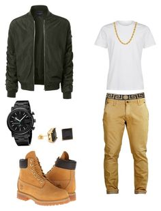 Untitled #4 by yvngcarti on Polyvore featuring polyvore, LE3NO, Timberland, Gucci, Versace, fashion, style and clothing