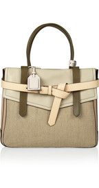 Reed KrakoffBoxer 1 leather and linen tote