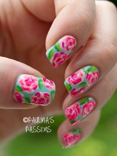 Lilly Pulitzer nails....xoxo