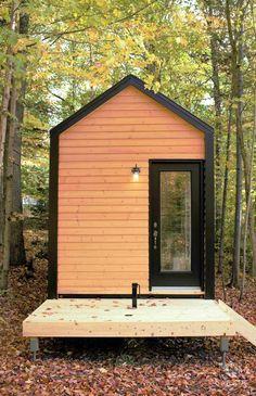 Mini-Maison CABANE - Extérieur / Tiny House CABANE - Exterior Cottage House Designs, Cottage Homes, Tyni House, Pop Up, Lake Cabins, Construction, Architecture, Shed, Outdoor Structures