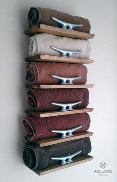 Rustic Nautical Towel Rack