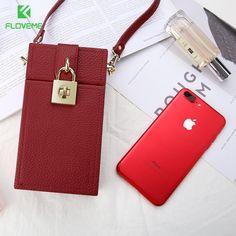 FLOVEME Girly Universal Phone Bag Case For iPhone X iPhone 8 6 6s 7 Plus Vintage Phone Box For iPhone 5 5S SE Shoulder Bag Cover