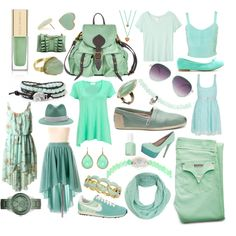 Mint, created by alyssaposk on Polyvore