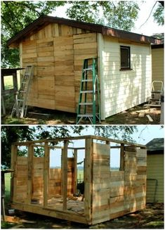 Chicken Coop Plans Free, Chicken Coop Pallets, Building A Chicken Coop, Chicken Coops, Mini Horse Barn, Poultry Business, Pallet Building, Pallet Ideas Easy, Wooden Posts