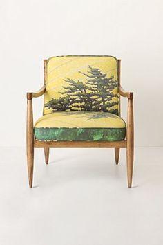 Scandinavian frame and printed upholstery