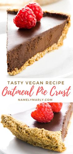 Make your favorite pies healthier and yummier with this oatmeal pie crust! It's easy to make and is a great alternative to the traditional pie crusts. Serve it with your favorite pie fillings for everyone to enjoy!   #oatmealpiecrust #piecrust #veganpiecrust #veganpies #namelymarly