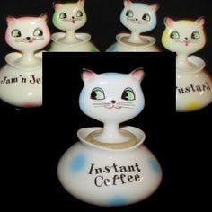 Vintage HOLT HOWARD COZY KITTEN INSTANT COFFEE Pixie Cat - MINT RARE Pixieware