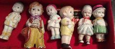 Cute little gang of ceramic kids