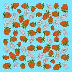 'Erdbeeren ' von Birgit Schlegel bei artflakes.com als Poster oder Kunstdruck