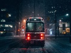 Snowy Toronto nights by Mindz.eye