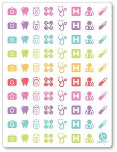 Assorted Doctor/Dentist/Appt Stickers