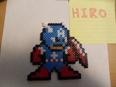 captain america perler bead fuse pixel art