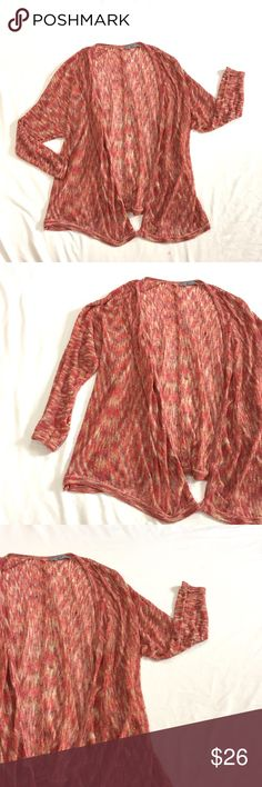 Olivia Sky Waterfall Cardigan Flame Stitch M-L Lightweight open front cardigan size M-L.  Size and care tags have been removed. Olivia Sky Sweaters Cardigans