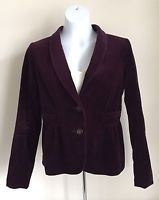 J Crew Purple Plum Velvet Peplum Eden Blazer Jacket Coat  17306 Woman's Size 6