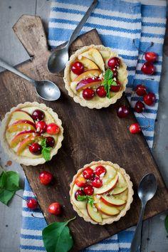 Nectarine, Cherry and Almond Tart Recipe