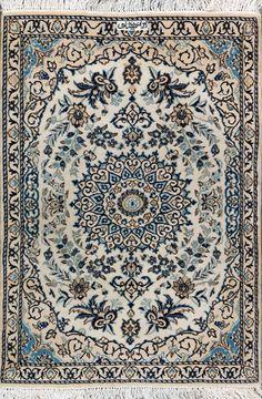 """Nain Persian Rug 2' 9"""" x 4' 5"""", Authentic Nain Handmade Rug"""