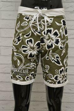 8ac631a5b4d8 Costume BOXEUR Uomo Taglia Size 42 Bagno Mare Piscina Shorts Pantaloncino  Fiori