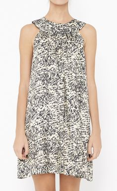 Jenni Kayne Cream And Black Dress