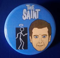 The Saint. Custom 38mm Pin Badge. #TheSaint #SimonTemplar #TVShow #RogerMoore