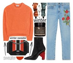 """""""Sweater Weather"""" by katerin4e-d ❤ liked on Polyvore featuring Acne Studios, Gucci, Balenciaga, Givenchy, AMBRE, Aesop and Christian Louboutin"""