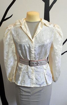Silky Floral Blouse M/L by TruleeDarling on Etsy, $20.00