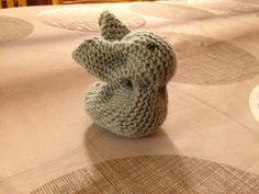 My first knitted bunny