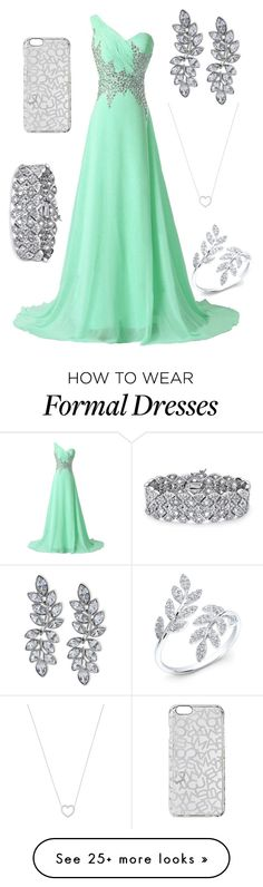 """Le Formal in la Winter"" by kailynn-nicole on Polyvore featuring Marc by Marc Jacobs, Palm Beach Jewelry, Kenneth Jay Lane and Tiffany & Co."