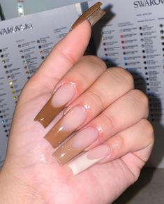 Brown Acrylic Nails, Long Square Acrylic Nails, Bling Acrylic Nails, Drip Nails, Simple Acrylic Nails, Best Acrylic Nails, Long Square Nails, Acylic Nails, Cute Acrylic Nail Designs