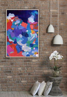 """""""Teeming 24"""" x 36""""/61 x 91cm."""" by VEThomson. Acrylic painting on Canvas, Subject: Abstract and non-figurative, Organic style, One of a kind artwork, Signed on the front, This artwork is sold unframed, Size: 60.96 x 91.44 x 3.81 cm (unframed), 24 x 36 x 1.5 in (unframed), Materials: Acrylics and medium on gallery-wrapped canvas"""