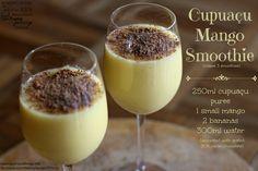 Cupuaçu and mango smoothie