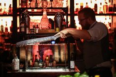 """Parliament   The Best New Bars in Dallas 2014   D Magazine  """"Parliament hosts a daily happy hour until 8 p.m. (all night on Monday), and every time it rains. Their slogan is simple: """"Every time it rains, we pour."""""""""""