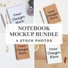This listing is for four styled notebook mockup stock photo which you can use to showcase your artwork or design in your online shop.Files are high resolution DPI). Notebook Mockup, Journal Notebook, Branding Materials, Marketing Materials, Nursery Frames, Invitation Mockup, Bag Mockup, Sell On Etsy, Stationary