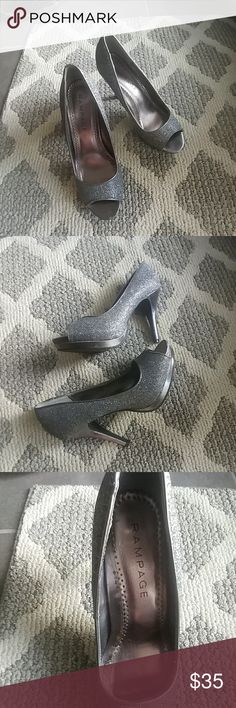 Shoes Like new silver dress pumps Rampage Shoes Heels