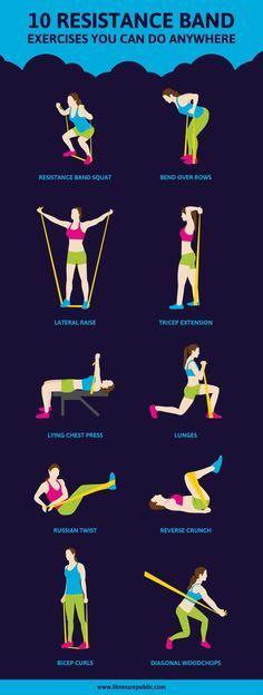 10 ejercicios con una banda elástica que puedes hacer en cualquier sitio y que fortalecerán todo tu cuerpo. #workout #fitness #hiit