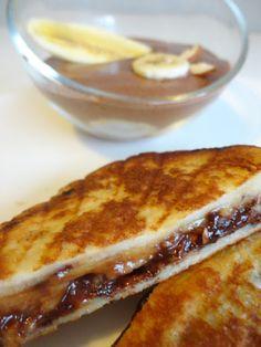 Croque Monsieur Caramel-Banane-Chocolat  http://enviedesucre.blogspot.fr