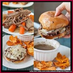 Dollar Store Crafter: Slow Cooker Beef Brisket French Dip Sandwiches
