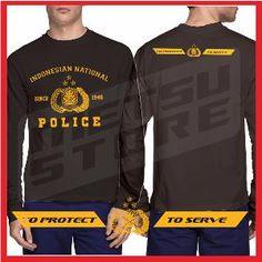 Kaos POLICE 2 Kaos Distro Kaos Polisi Hitam Lengan Panjang Metsu Store