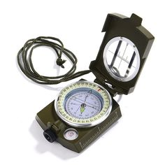 GWHOLE Military Lensatic Sighting Compass for Outdoor Activities Camping Hiking Climbing Biking * You can find more details by visiting the image link.