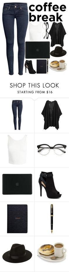 """""""Caffeine Fix:Coffee Break"""" by a-hidden-secret ❤ liked on Polyvore featuring H&M, Sans Souci, Tucano, Apt. 9, Parker and Lack of Color"""