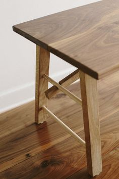 The natural beauty of the wood isn't compromised by stains or waxes.