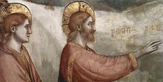 GIOTTO di Bondone Scenes from the Life of Mary Magdalene- Raising of Lazarus (detail) Fresco Magdalene Chapel, Lower Church, San Francesco, Assisi Raising Of Lazarus, Maria Magdalena, Jesus Christus, John The Baptist, Medieval Art, Fresco, Mary, Antiques, Gallery