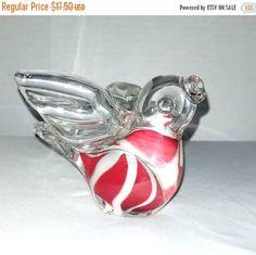 Hand Blown Glass Bird,Bird Figurine,Glass Bird Paperweight,Art Glass,Bird Shelf Sitter,Hand Blown Glass,Bird Paperweight,Bird,Swirled Glass by JunkYardBlonde on Etsy