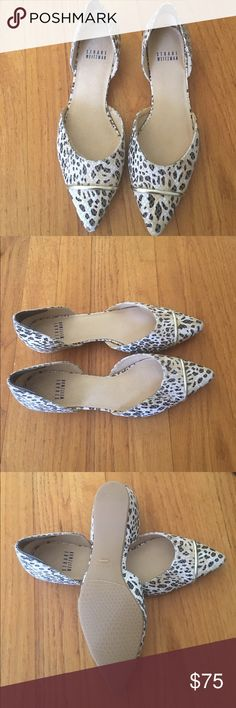 NWOT Stuart Weitzman Flats Never worn, have duster. Snakeskin. Made in Spain. Front Metal Detail. Size 7 (37). Stuart Weitzman Shoes Flats & Loafers
