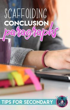 Ideas for teaching and scaffolding conclusion paragraphs in middle and high school. Minimize frustration and increase success! Writing Lessons, Teaching Writing, Teaching Strategies, Teaching Tips, Writing Skills, Teaching English, Essay Writing, Writing Workshop, Writing Ideas