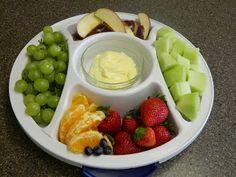 Fruit  Dip - 1 c milk, 1 pkg instant jello, 1 c sour cream